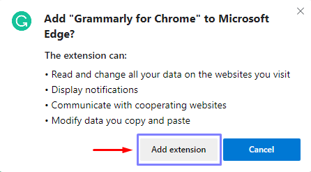 add chrome extension to edge chromium