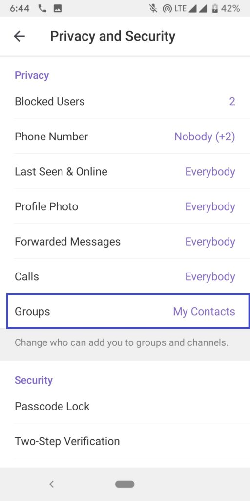 prevent others from adding to telegram groups