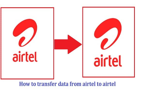 How to transfer data from airtel to airtel
